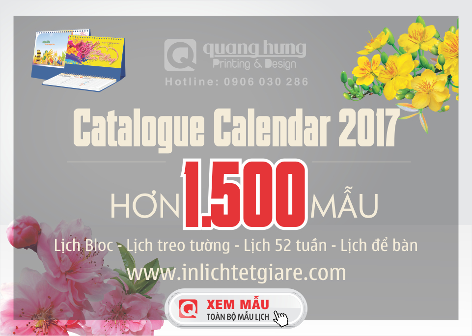 catalogue calendar 2017